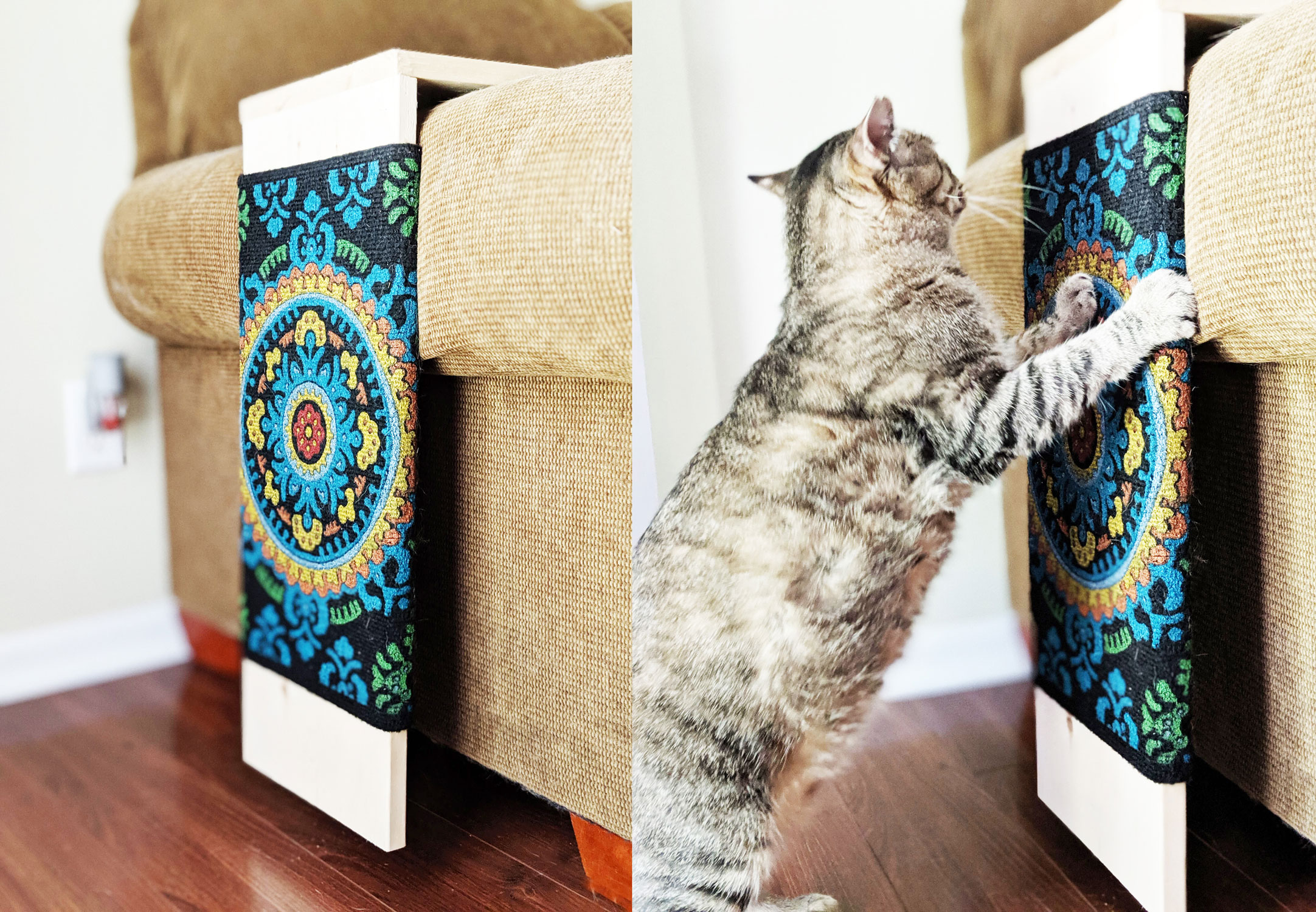 DIY Cat Scratcher for the Couch