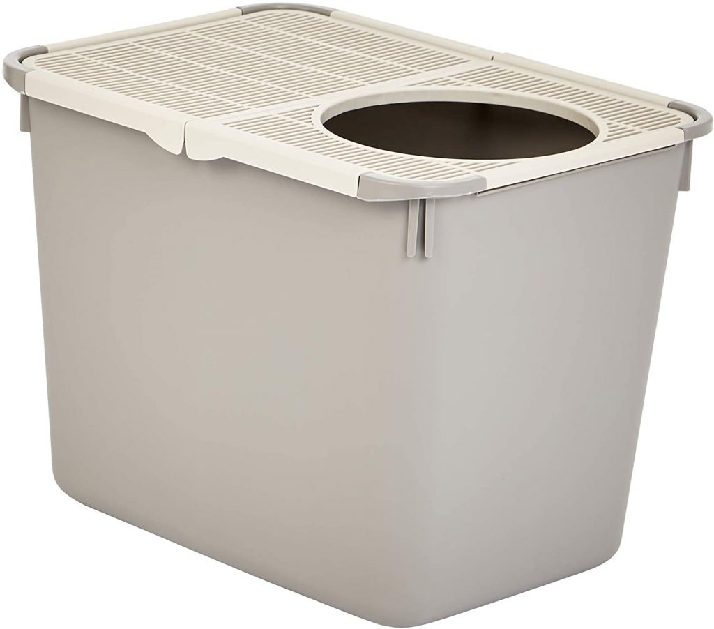 AmazonBasics Best Top Entry Litter Box for Cats